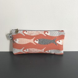 Trousse poisson rectangulaire orange