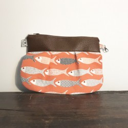 Trousse de toilettes poisson orange